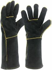 Welding Gloves 16 Inch Heat Resistant Unibody Cow Split Leather Bbq Cooking