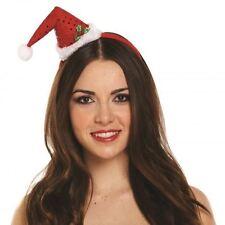 Christmas Mini Santa Top Hat Xmas Headband Fancy Dress Adult Kids Accessory
