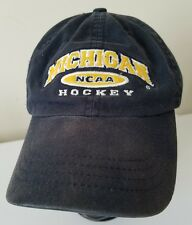 Michigan Wolverines Ice Hockey Cap Hat Maize Blue Embroidered NCAA Adjustable