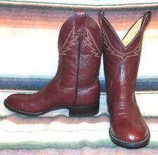 Womens Vintage Panhandle Slim Maroon Leather Shorty Cowboy Boots 7.5 B NEW NIB