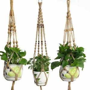 10 Type Macrame Plant Hanger Hook Planter Holder Garden Flower Hanging Hemp Rope