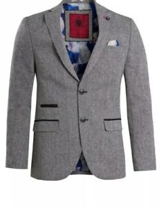 New Men's Swade Clothing Grey Blazer Size 42 £39.99 Or Best Off RRP £90
