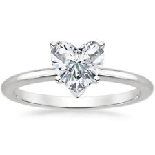 Stunning 1/4 Cts F/VS1 Heart Shape Natural Diamonds Engagement Ring In 14K Gold