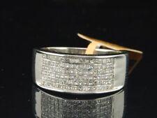 Diamond Wedding Band 14K White Gold Mens Princess Cut Anniversary Ring 1.05 Ct.