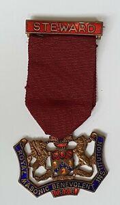 Vintage Masonic Jewel Steward Medal~Benevolent Institution~Very Good Condition