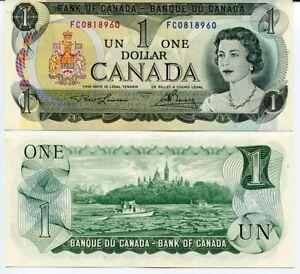 CANADA 1 DOLLAR 1973 P 85 a AUNC