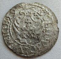 POLAND Riga Livonia Solidus Szelag Schilling 1619 Sigismund III #A100