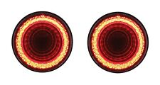 "Pair 4"" Round LED ""MIRAGE"" Stop, Turn & Tail Lights - Red LED/Red Lens - S/T/T"