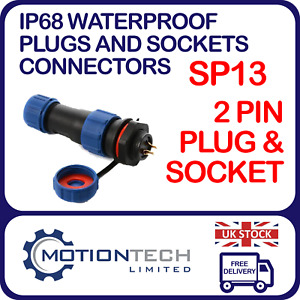 SP13 Waterproof IP68 Panel Mount Aviation Plugs and Socket Cable Connectors