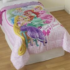 DISNEY PALACE PETS TWIN COMFORTER - Princess Cinderella Ariel Sweet Friends Bed