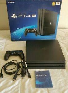 Black Sony PlayStation 4 PS4 Pro 1TB 4K Console