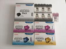 25x Xerox 8500 8550 Solid Ink 1008R00672 108R00671 108R00669 108R00670 Schwarz