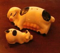 Vintage Pig/Sow and Piglet Salt and Pepper