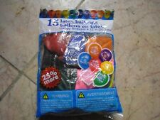 New ! 15 pk Latex Balloons Happy Birthday 12 in