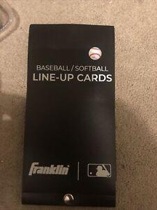 Franklin Baseball/Softball Line-Up Cards 20 Games 19186 New