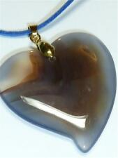 CG3109...BLUE AGATE PENDANT ON A BLUE SUEDE CORD - FREE UK P&P