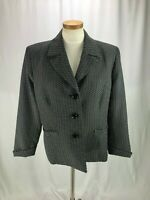 Kasper Separates Women's Black Gray White Blazer Jacket 18
