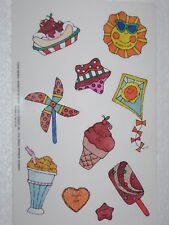 Vtg 1993 Current Inc Scratch N Sniff Stickers 8 Sheets Dessert Ice Cream Sun