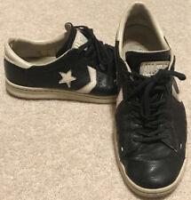 Men's Converse John Varvatos Pro Leather Low Black Sz 9 Shoes Chucks Rare Bird