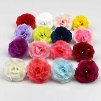 50X Mixed Color Rose Artificial Fake flower Silk Heads Bulk Wedding Party Decor
