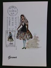 SPANIEN MK 1968 TRACHTEN GERONA COSTUMES MAXIMUMKARTE MAXIMUM CARD MC CM c5548