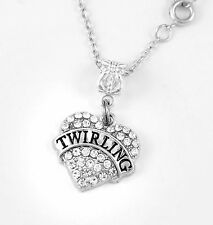 Twirling  Necklace Twirling  Gift chain twirl Present Majorette Pendent