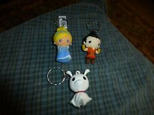 "DISNEY ANIME NIGHTMARE Character Keychain Collector Lot Of 3 Unique 2.5"" By: MLL"