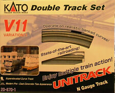 NIB N Kato #20-870-1 Unitrack V11 Double Track Set