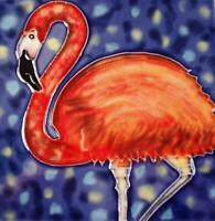 Tropical Pink Flamingo Mingo 6x6 Inches Ceramic Tile