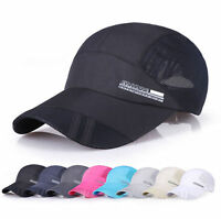 New Unisex Summer Outdoor Adjustable Sport Baseball Mesh Hat Running Visor Cap