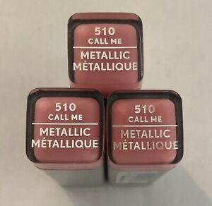 (3) Covergirl Exhibitionist Metallic Lipstick, 510 Call Me