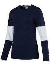 NWT Puma Golf Women's Evoknit Sweater Peacoat Navy Blue/White You Pick Size
