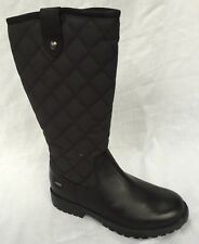 Clarks Girls Rhea Wish Black Leather Goretex Long Calf BOOTS Size 8g Was