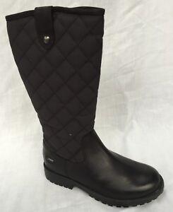 BNIB Clarks Rhea Wish GTX Girls Black Leather Gore-Tex Boots F/G/H Fitting