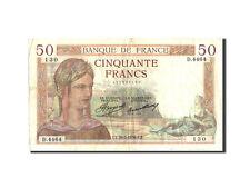 Billets, France, 50 Francs, 50 F 1934-1940 ''Cérès'', 1936 #210735