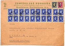 SLOVAKIA Bratislava Advert *Spectacular Franking* 1939 {samwells-covers}AG169