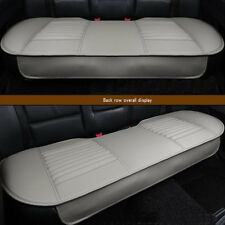 Rear Gray Leather Breathable Bamboo Charcoal Car Chair Cover Seat Cushion Mat