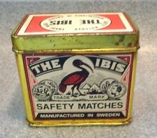 graphic old Ibis Safety Matches  tin