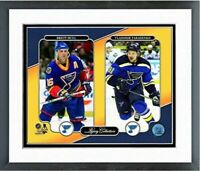 "Brett Hull & Vladimir Tarasenko St Louis Blues Photo (Size 12.5"" x 15.5"") Framed"