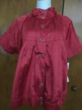 Sharagano Paris women's red lightweight lined jacket size Xlarge NWT