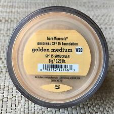 Bare Escentuals Bare Minerals Golden Medium Foundation W20 8g XL ORIGINAL SPF15
