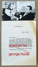 ROBERT BENCHLEY - LETTER -  SIGNED - 1937 - CUKOR - GAMBLING - WEIGHT - AA