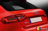 AUDI NEW GENUINE A4 S4 RS4 REAR TRUNK CHROME RS4 EMBLEM BADGE 8D98537402ZZ