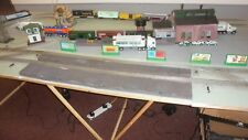 Lionel 0 gauge Santa Fe and Amtrax show train layout