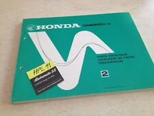 Honda CM250C CM250 Custom ( C , D ) parts list liste catalogue pièce détachée