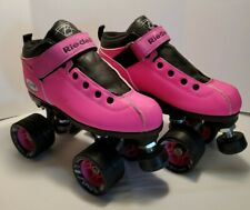 Riedell Dart Quad Roller Derby Speed Skates Pink Size 4 used