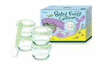Glasslock-Safe & Healthy Cotainers for baby food 165ml Round Tempered Glass 4pcs