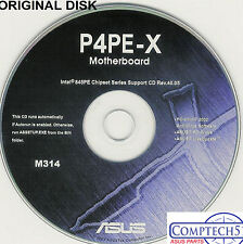 ASUS GENUINE VINTAGE ORIGINAL DISK FOR P4PE-X Motherboard Drivers Disk M314