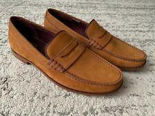 "Ted Baker ""Micke"" Dark Orange Moccasin Loafers Size 11 Uk"
