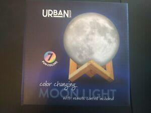"""NEW Urban Shop LED Color Changing Moon Light Lamp w Remote Control New 5.5""""x7.5"""""""